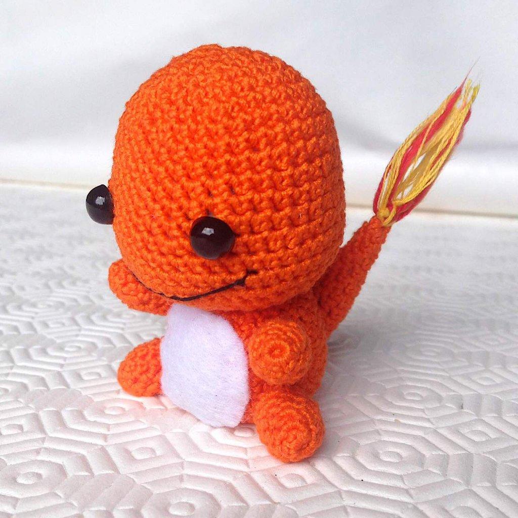 Amigurumi Manos : Pokemon Charmander baby amigurumi, fatto a mano all ...