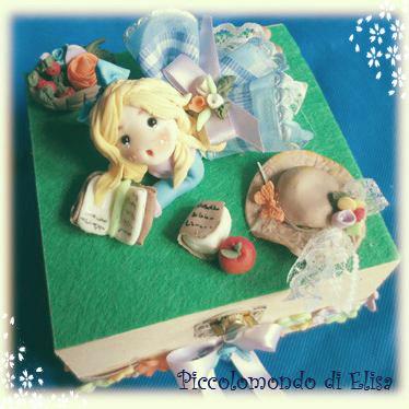 """cofanetto portagioie""""Alice nel paese delle meraviglie"""""""