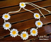Coroncina di Margherite per capelli  o Collana di Margherite doppio uso by Little Rose Handmade