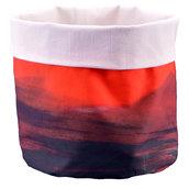 Sacchetto cotone portapane o portaoggetti con pennellature rosse
