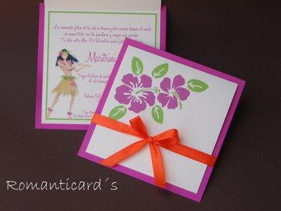 Partecipazione stile Hawaii by Romanticards