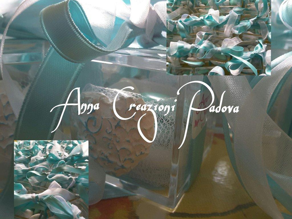 Plexiglass scatolina confetti matrimonio tiffany