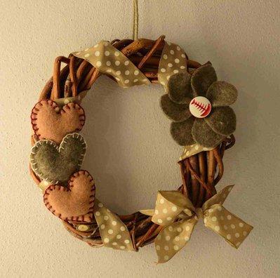 Ghirlanda natalizia cuori