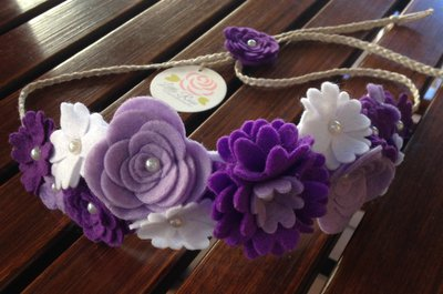 Coroncina Hawaiana a fiori elaborata a mano by Little Rose Handmade