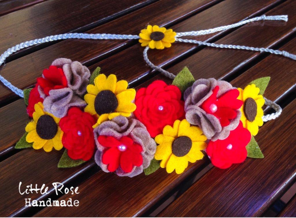Coroncina per cerimonia e sessione fotografica by Little Rose Handmade