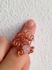 Anello quarzo rosa