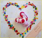 Scarpine a uncinetto per  neonata stile nike
