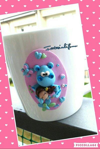 tazza mug decorata