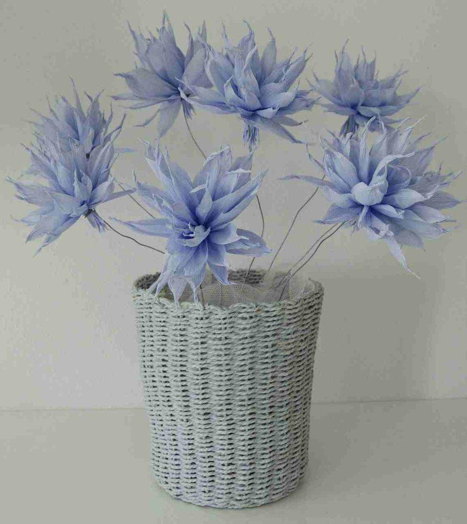 Vaso fiori carta