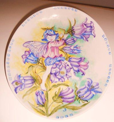 piatto ceramica farfalla dei fiori