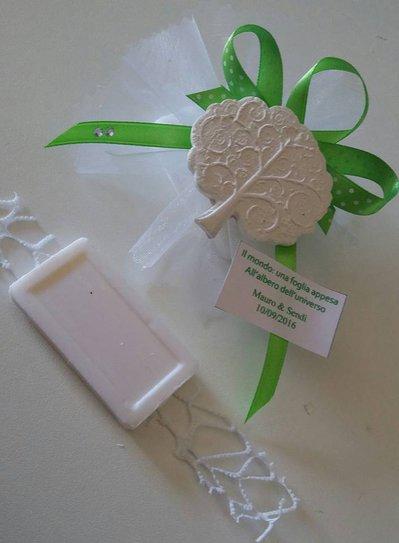 bomboniera segnaposto albero della vita su saponetta