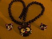 Collana  parure Choco-cat