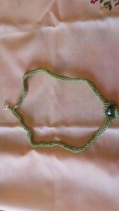 Originale collana tricotin