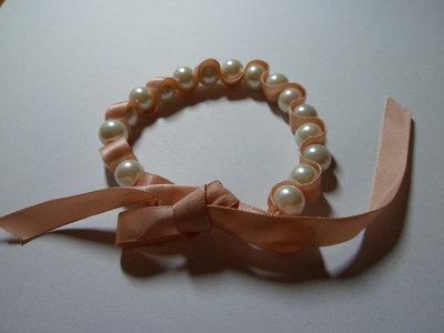 Bracciale perle e nastro