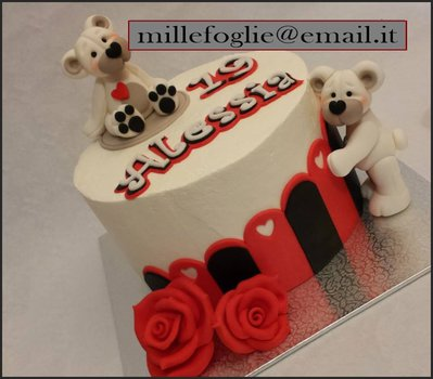 """Decorazione torta Orsetti """"squadra del cuore"""""""