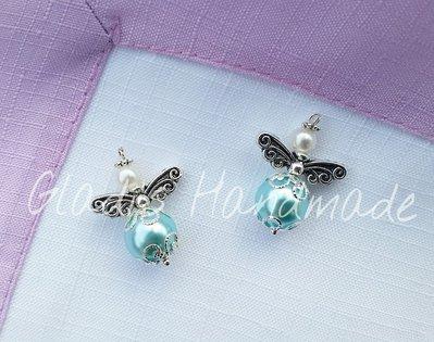 Ciondoli angioletti azzurri per charm o chiudipacco