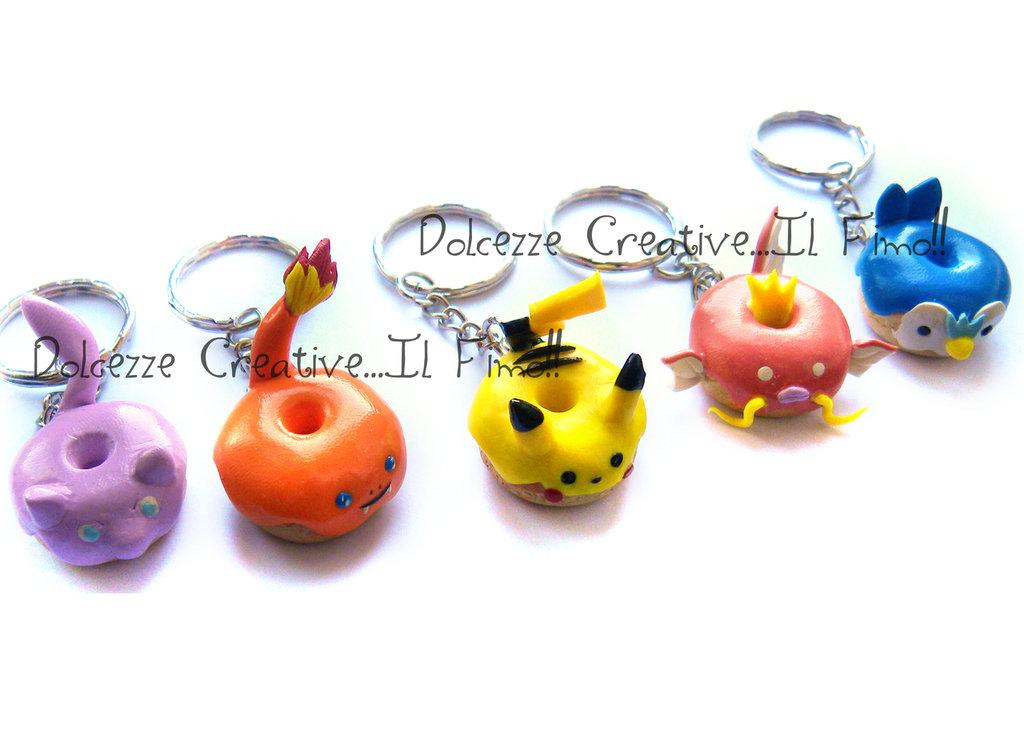 Charmander - Portachiavi Pokémon idea regalo gamer - DONUT - HANDMADE