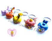 Pikachu - Portachiavi Pokémon idea regalo gamer - DONUT - HANDMADE