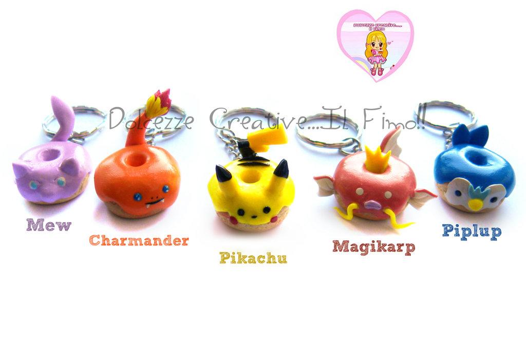 MAGIKARP - Portachiavi Pokémon idea regalo gamer - DONUT - HANDMADE