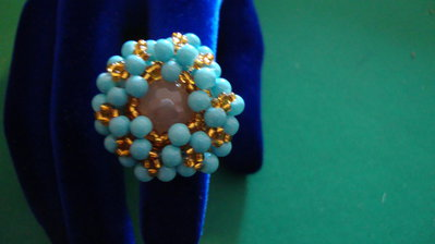 anello turchese rotondo
