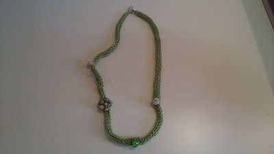 ORIGINALE COLLANA TRICOTIN CON STRASS