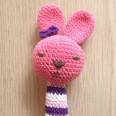 Coniglio Amigurumi Uncinetto : Sonaglino coniglio rosa amigurumi, fatto a mano all ...