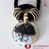 Collana Maxi Albero della Vita Delicata in vetro di Murano fatto a mano