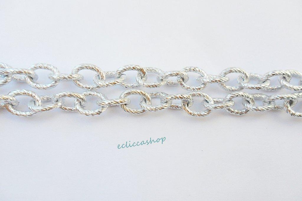 catena color argento anelli ovalizzati mm 10 x 8 1 mt