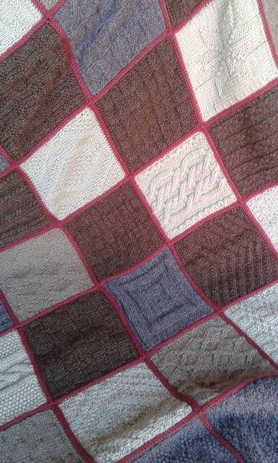 Coperta crochet lana nuova fatta a mano 4 su ordinazione for Kit per baule logati a mano