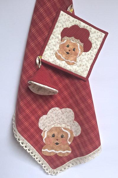 Asciughino e presine ginger cuoco