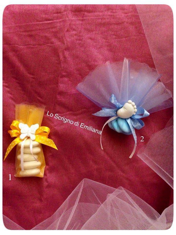 Bomboniera velo con confetti, decorato con gessetto profumato