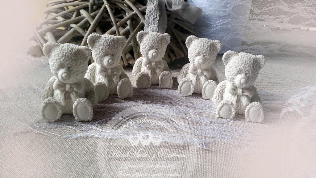 Gessetto profumato  orso,orsacchiotto  3D, bomboniere, nascita, segnaposto, casa, battesimo ,regalo,compleanno