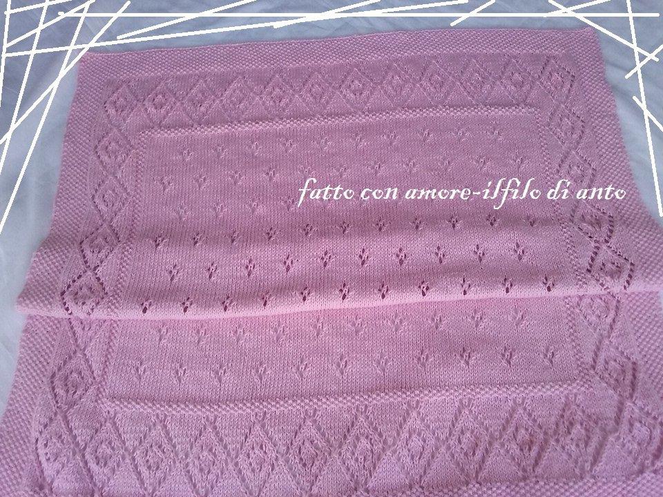 Copertina in cotone rosa