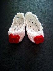 scarpine uncinetto x neonata