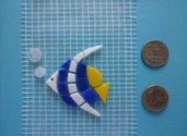 Mosaico pre-tagliato pesce angelo con bollicine