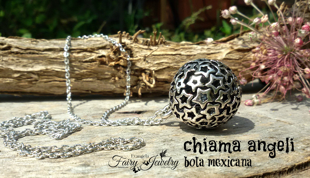 Collana bola mexicana sonaglio gravidanza sfera stelle chiama angeli