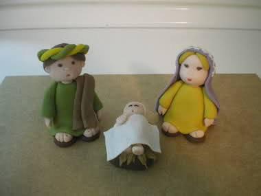 Famiglia Sacra Per Presepe