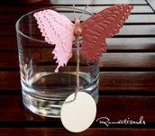 Segna Posto a Farfalle per bicchieri e calici con Bigliettino by Romanticards