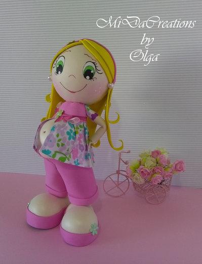 Bambola Eva Incinta/Rosa
