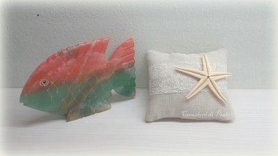 Cuscinetto profumato in lino con stella marina