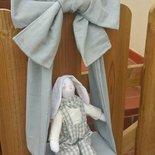 Fiocco nascita azzurro coniglietto