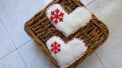 """Decori Natale cuore """"Red Flake"""""""