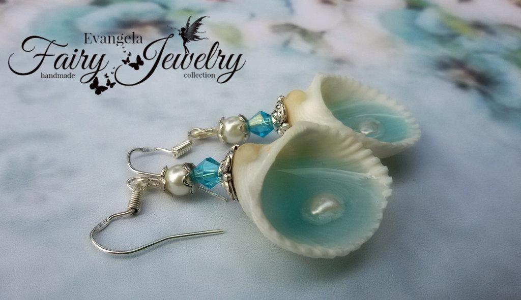 Orecchini perle fiume conchiglie naturali acqua dolce pendenti mare