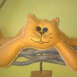 """decorazione """" attenti al gatto"""""""