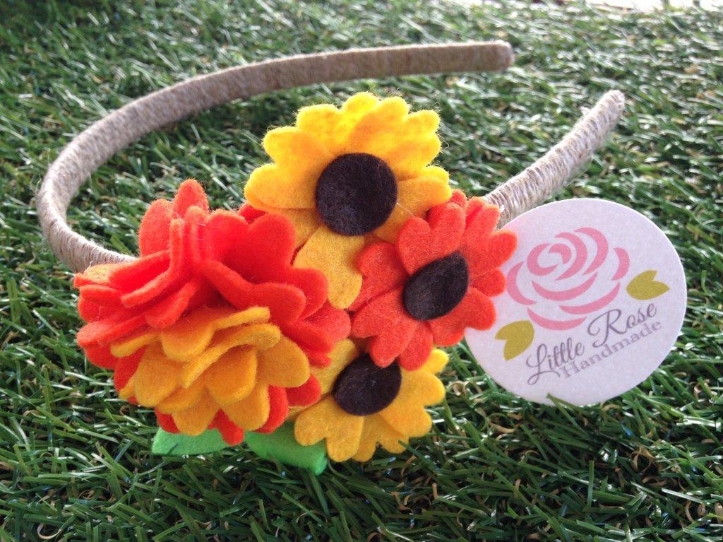 Cerchietto a girasoli by Little Rose Handmade