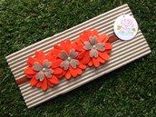 Fascia elastica a fiori arancioni by Little Rose Handmade