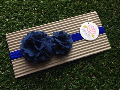 Fascia elastica a pom pom in tono blue by Little Rose Handmade
