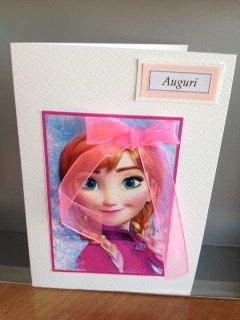 Biglietto auguri ANNA Frozen