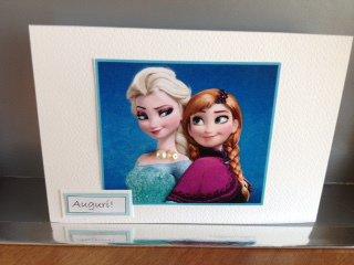 Biglietto ELSA e ANNA Frozen con perline