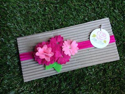 Fascia elastica in tono rosa e fucsia by Little Rose Handmade